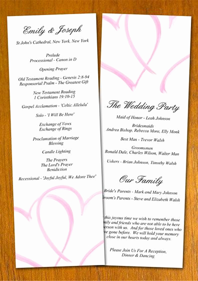 Wedding Program Template Free Lovely Free Wedding Program Templates