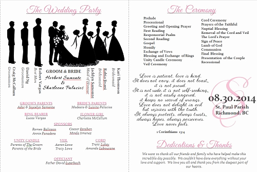Wedding Program Template Word Awesome Wedding Program Templates