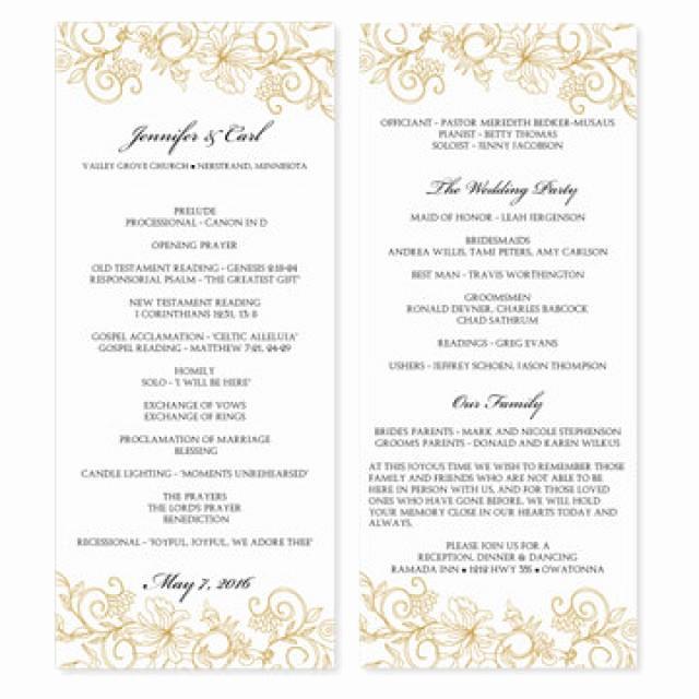 Wedding Program Template Word Beautiful Wedding Program Template Download Instantly Edit