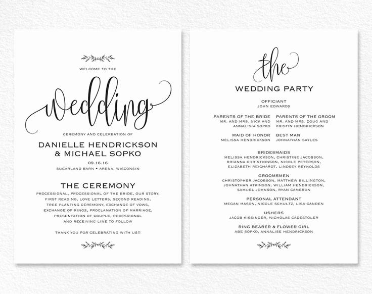 Wedding Program Template Word Inspirational Best 25 Wedding Invitation Templates Ideas On Pinterest