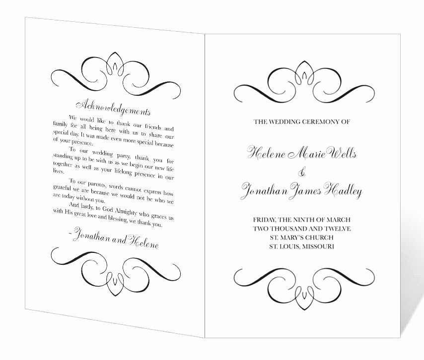Wedding Program Template Word Lovely 301 Moved Permanently
