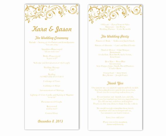 Wedding Program Template Word Lovely Wedding Program Template Diy Editable Word File Instant
