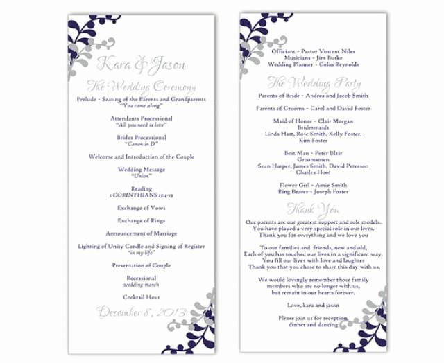 Wedding Program Template Word Luxury Wedding Program Template Diy Editable Word File Instant