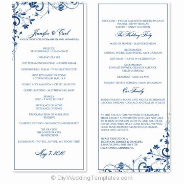 Wedding Program Template Word Unique Wedding Program Template Instant Download Edit