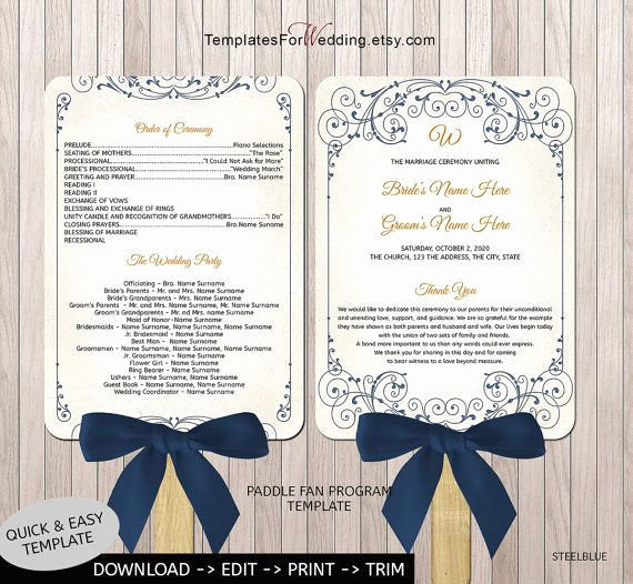 Wedding Programs Fans Templates Awesome 40 Best Images About Wedding Program Fans On Pinterest