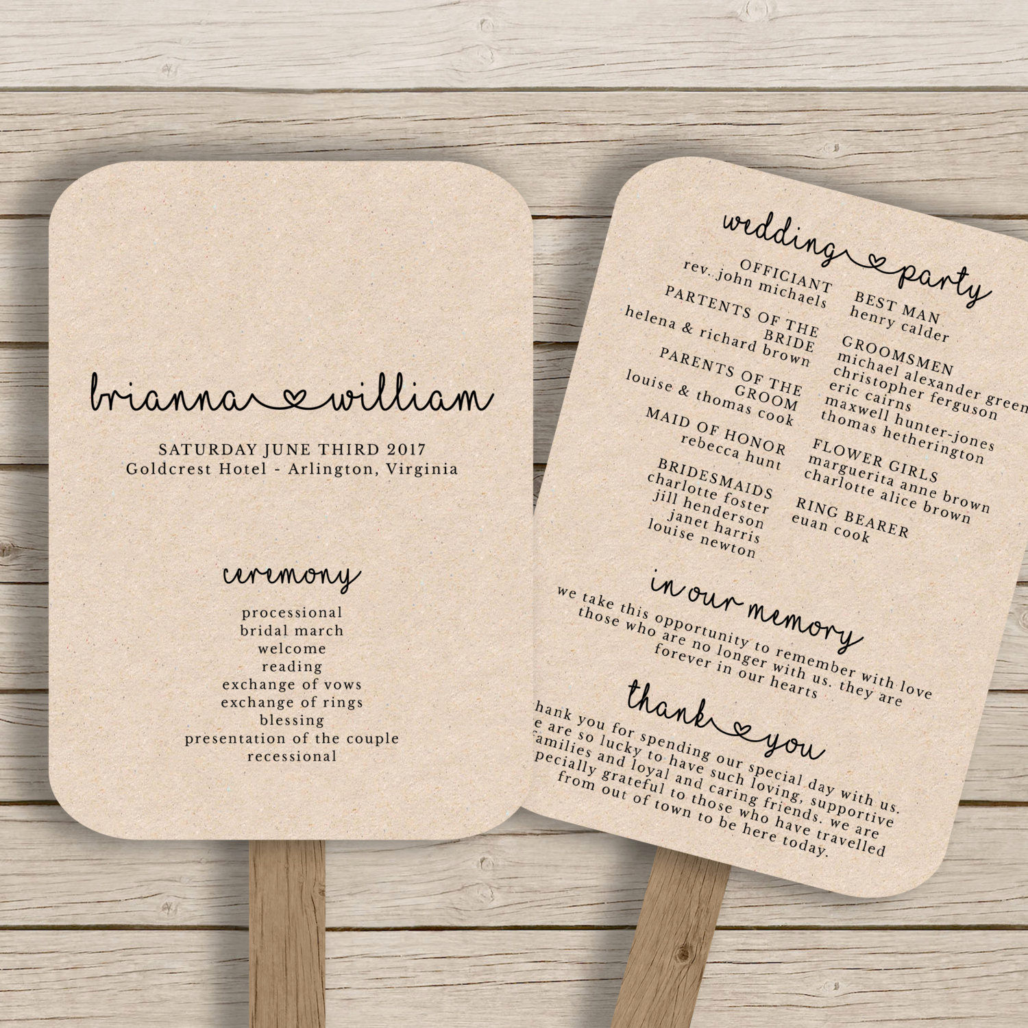 Wedding Programs Fans Templates Best Of Wedding Fan Program Template Rustic Wedding Fan Printable