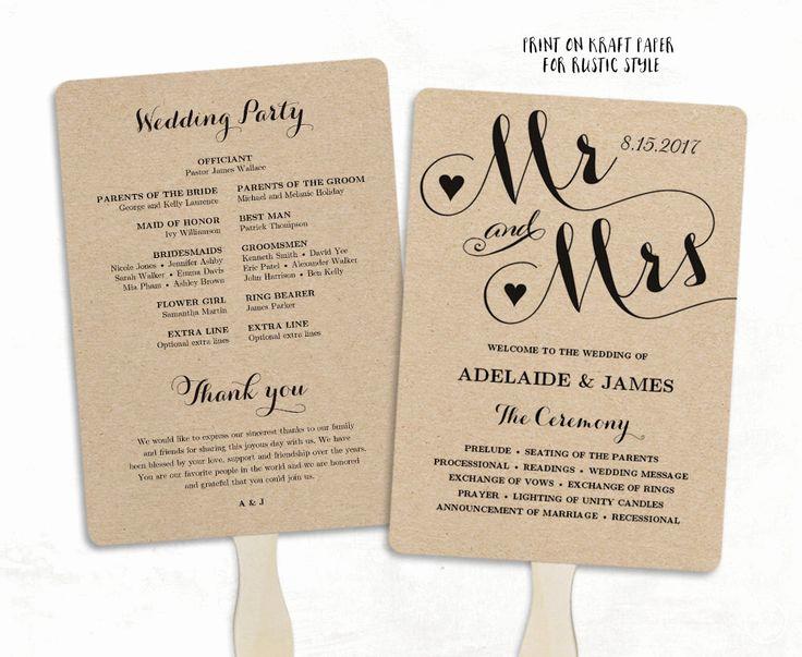 Wedding Programs Fans Templates Fresh Best 25 Wedding Program Templates Ideas On Pinterest