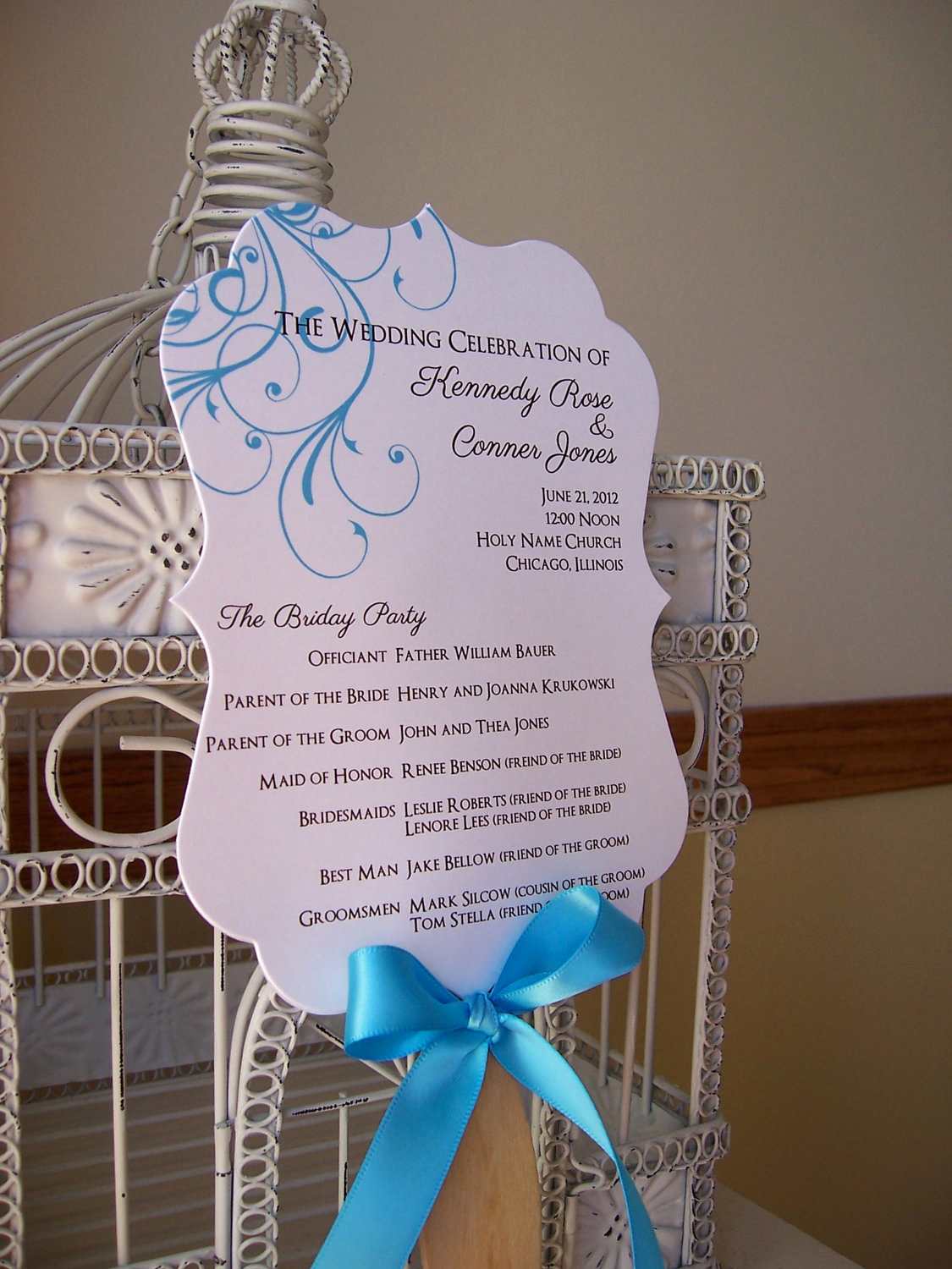 Wedding Programs Fans Templates Fresh Fan Wedding Program with Scalloped Paddle Custom Colors and