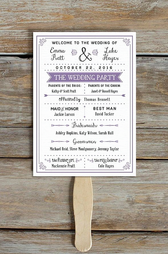 Wedding Programs Fans Templates Inspirational Best 25 Wedding Program Templates Ideas On Pinterest