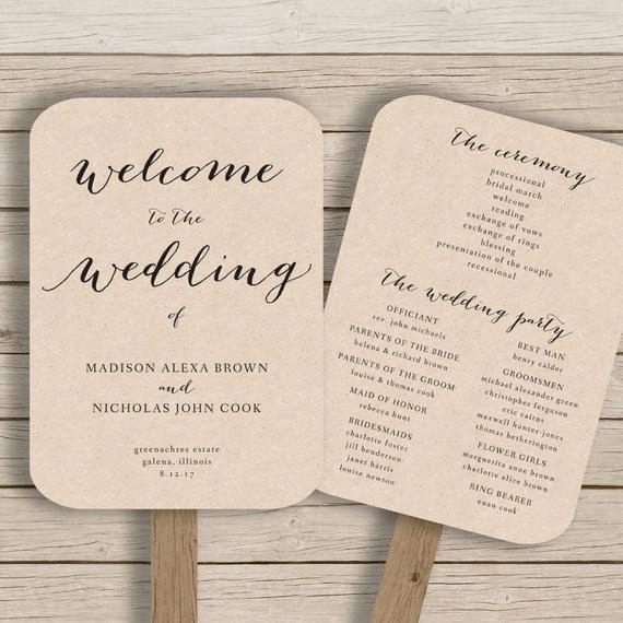 Wedding Programs Fans Templates Luxury Wedding Program Fan Template Printable by Hopestreetprintables