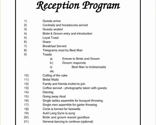 Wedding Reception Program Template Best Of Sample Program Flow for Beauty Pageant