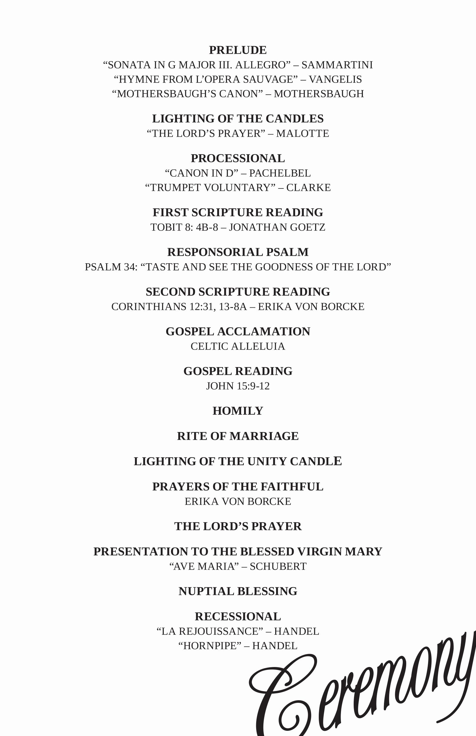 Wedding Reception Program Template Best Of Wedding Reception Program Ideas Wedding Decor Ideas
