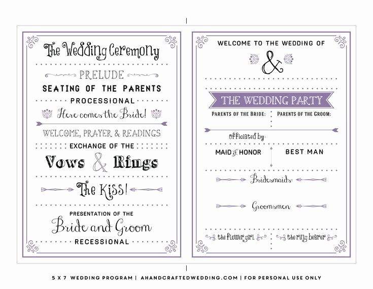 Wedding Reception Program Template Inspirational Best 25 Wedding Program Templates Ideas On Pinterest