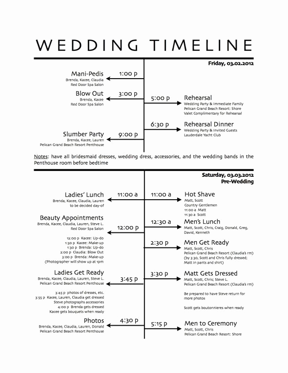 Wedding Reception Timeline Template Awesome How to Create A Wedding Reception Timeline