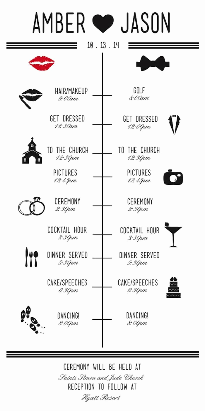 Wedding Reception Timeline Template Beautiful Wedding Reception Timeline Planning Guide Modwedding
