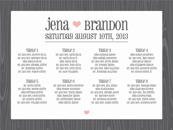 Wedding Seating Chart Poster Best Of Round Up