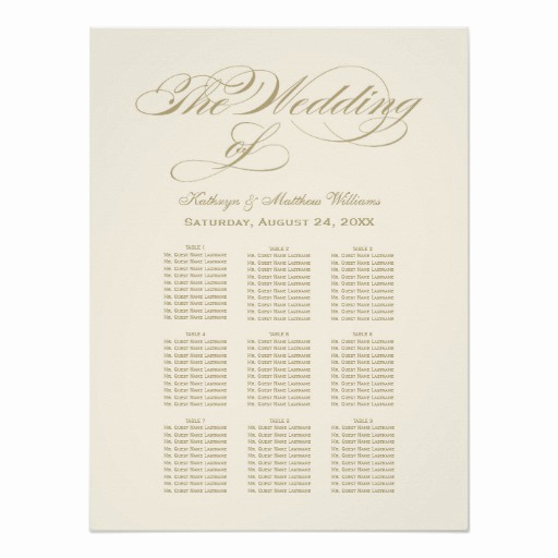 Wedding Seating Chart Poster Best Of Wedding Seating Chart Poster Gold Calligraphy