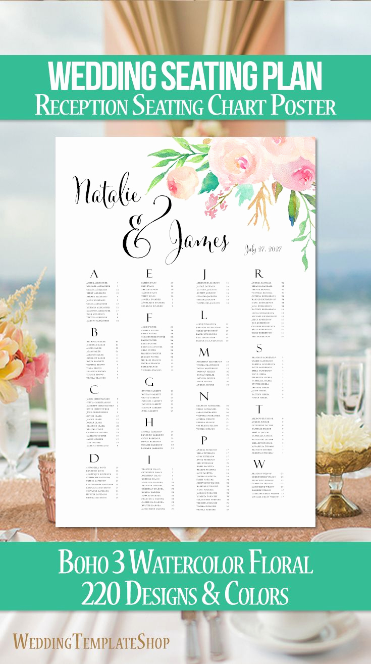 Wedding Seating Chart Poster Luxury Best 20 Reception Seating Ideas On Pinterest