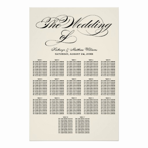Wedding Seating Chart Poster New Wedding Seating Chart Poster Black Calligraphy