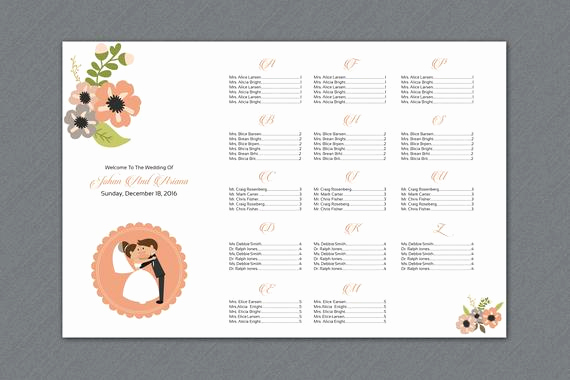 Wedding Seating Chart Poster Template Awesome Items Similar to Sale Wedding Seating Chart Template