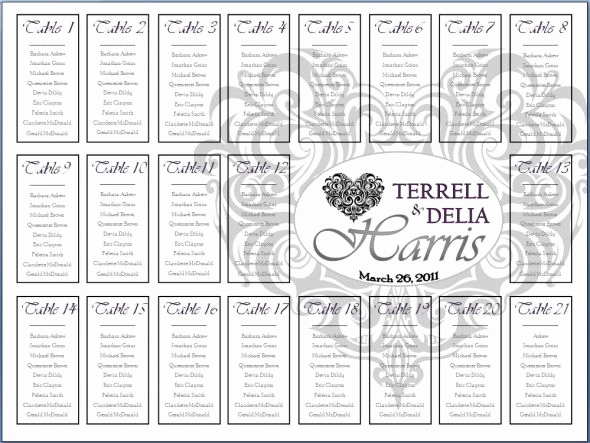 Wedding Seating Chart Poster Template Beautiful Seating Chart Try…