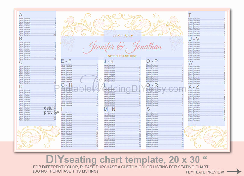 Wedding Seating Chart Poster Template Beautiful Wedding Seating Chart Poster Template Printable Diy Reception