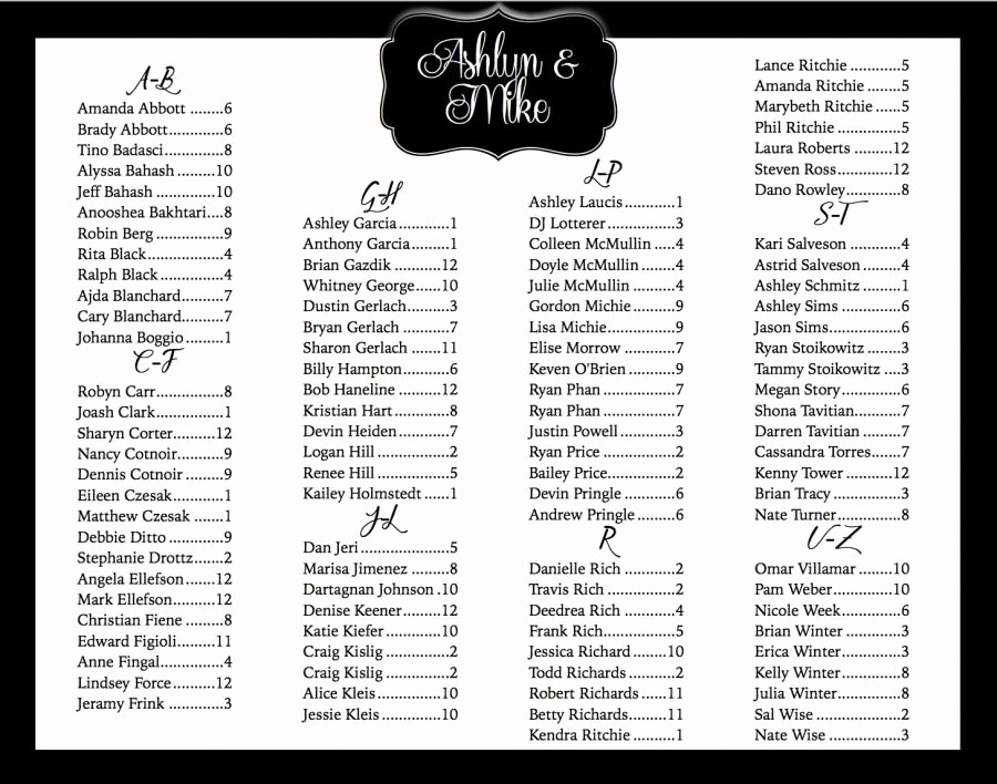 Wedding Seating Chart Poster Template Best Of Wedding Seating Chart Printable Custom Seating Chart