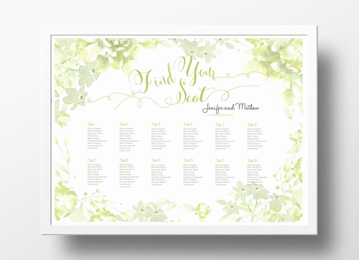 Wedding Seating Chart Poster Template Elegant 17 Best Images About Diy Wedding Seating Chart Poster