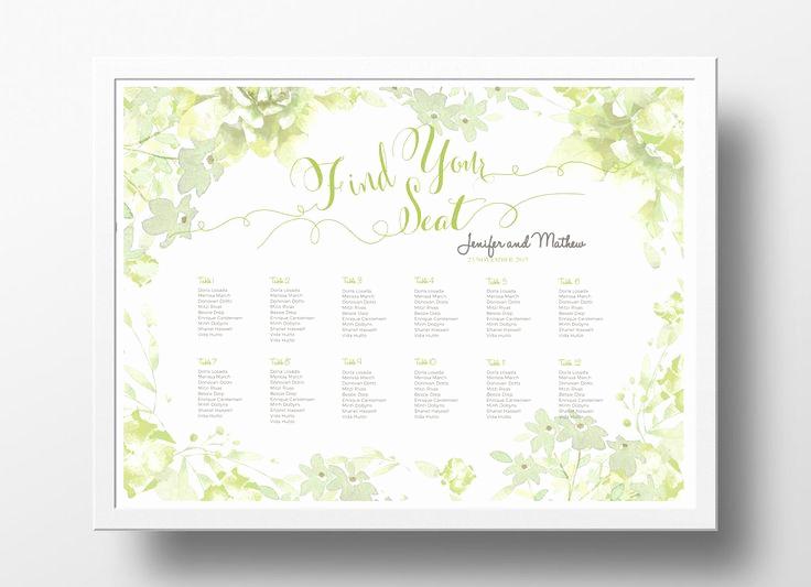 Wedding Seating Chart Poster Template Elegant 17 Best Images About Diy Wedding Seating Chart Poster