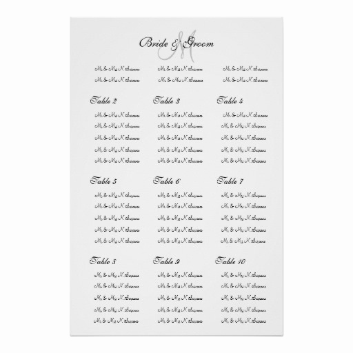 "Wedding Seating Chart Poster Template Elegant Wedding Seating Chart Template ""make Your Own"" Poster"