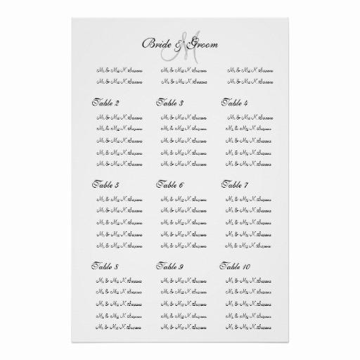 "Wedding Seating Chart Poster Template Elegant Wedding Seating Chart Template ""make Your Own"" Poster"