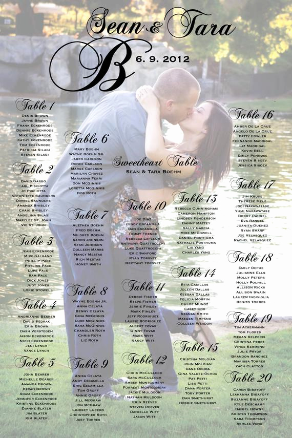 seating poster wedding reception table