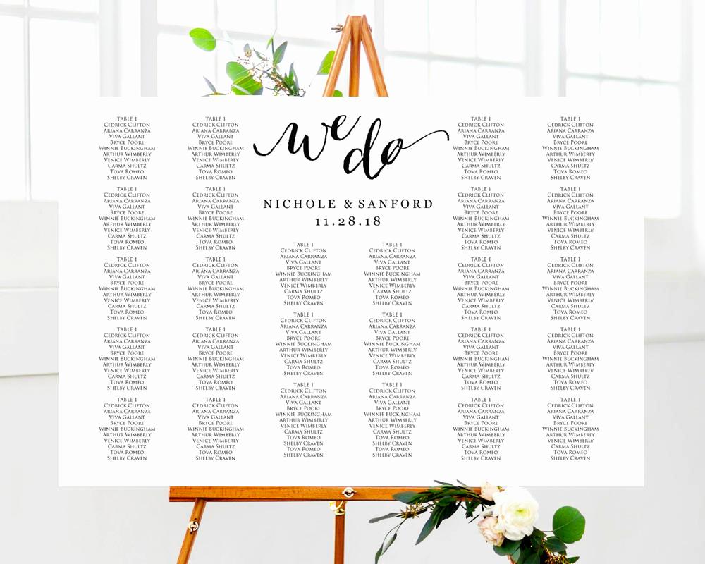 Wedding Seating Chart Poster Template Inspirational Seating Plan Templates · Wedding Templates and Printables