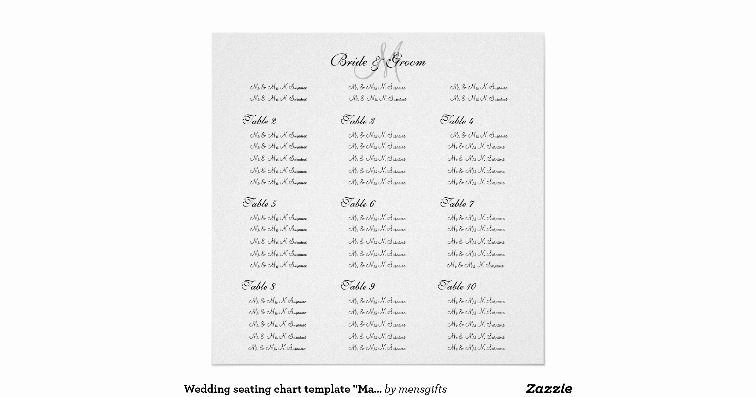 Wedding Seating Chart Poster Template New Wedding Seating Chart Template Make Your Own Poster