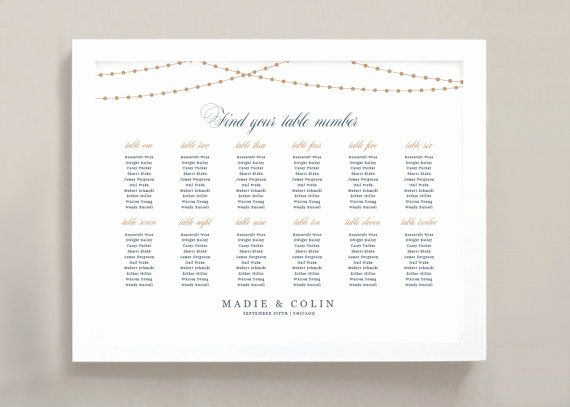 Wedding Seating Chart Poster Template Unique Printable Seating Chart Poster Template