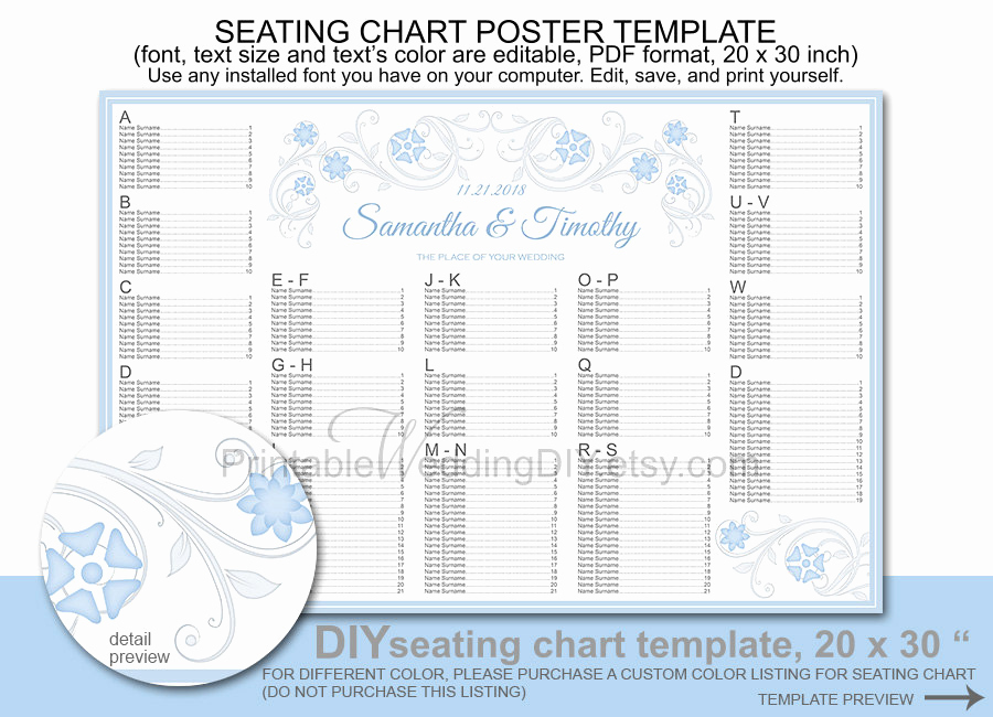 Wedding Seating Chart Poster Template Unique Wedding Seating Chart Poster Template Printable Diy Reception