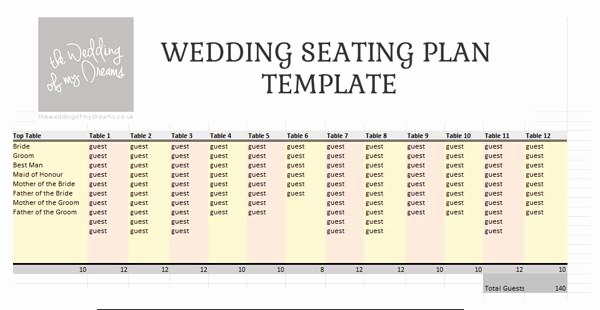 Wedding Seating Chart Template Excel Best Of Wedding Seating Plan Template & Planner – Free Download