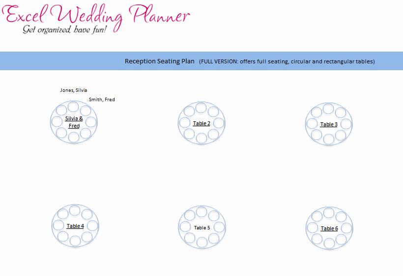 Wedding Seating Chart Template Excel Elegant Download Wedding Planner Excel Workbook Wedding Planner