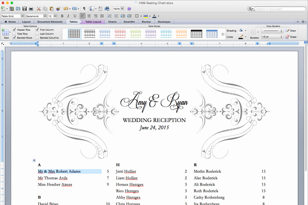 Wedding Seating Chart Template Excel Inspirational Free Printable Wedding Reception Templates