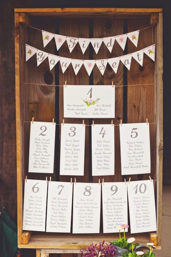 Wedding Table Seating Chart Beautiful 30 Most Popular Seating Chart Ideas for Your Wedding Day