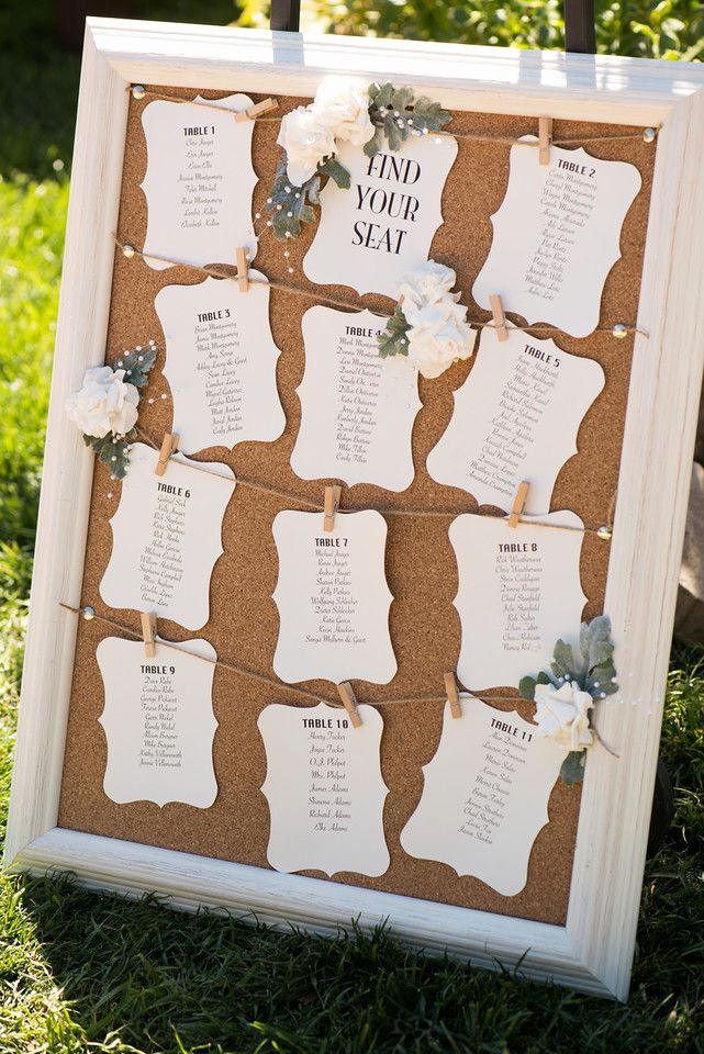 Wedding Table Seating Chart Lovely Cork Board Wedding Seating Chart Seatingassignments