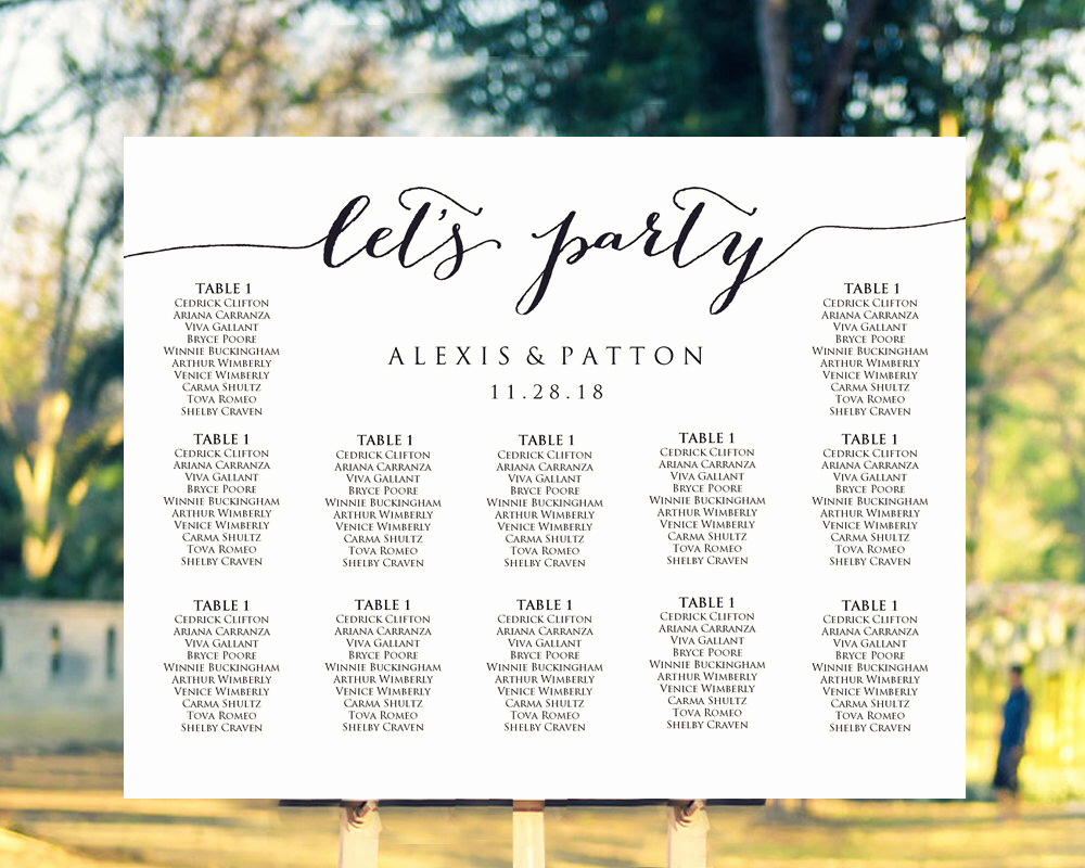 Wedding Table Seating Chart Unique 19 Things Every Bride Should Include In A Wedding Binder