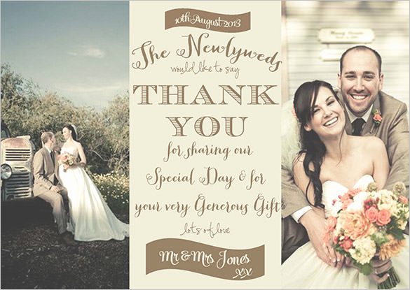 Wedding Thank You Template Awesome 18 Graphy Thank You Cards Psd Ai