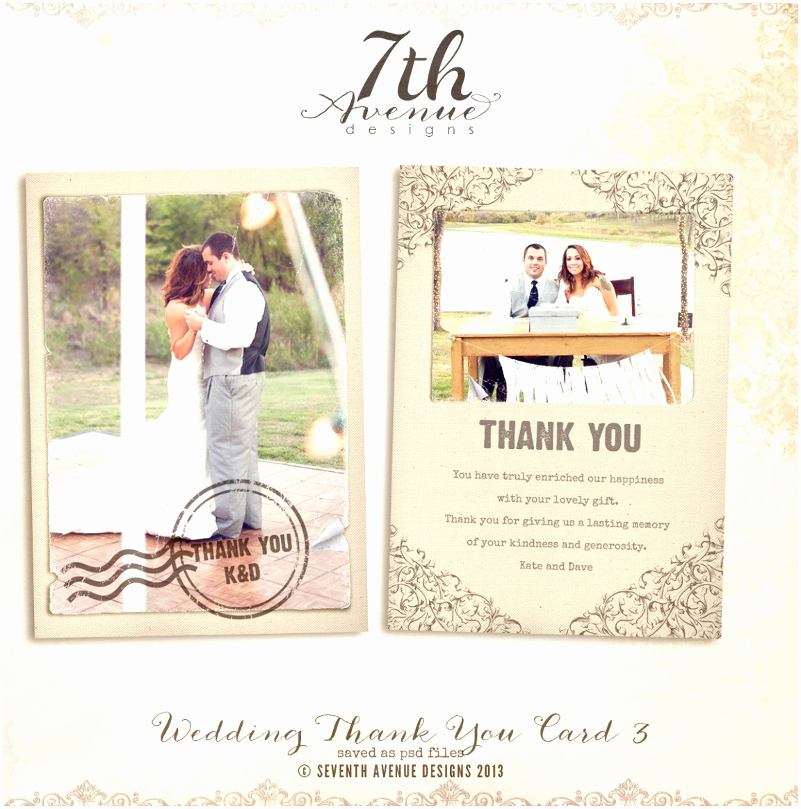Wedding Thank You Template Best Of 10 Wedding Thank You Cards Template Free Iatto