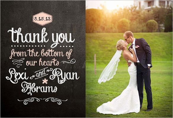 Wedding Thank You Template Elegant 18 Wedding Thank You Cards Psd Ai Vector Eps