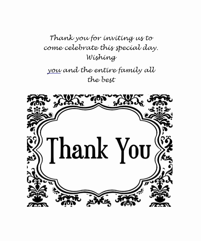 Wedding Thank You Template Lovely 30 Free Printable Thank You Card Templates Wedding