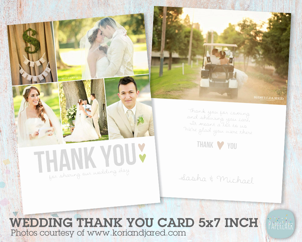 Wedding Thank You Template Lovely Wedding Thank You Card Shop Template Aw002 Instant