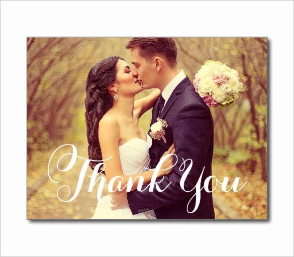 Wedding Thank You Template Luxury 24 Thank You Card Designs Psd Ai