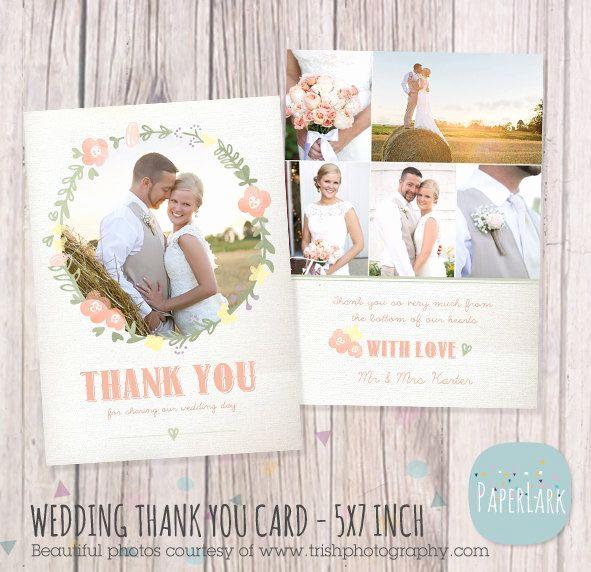 Wedding Thank You Template Luxury Wedding Thank You Card Shop Template Aw014