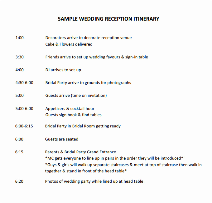 Wedding Weekend Itinerary Template Awesome 44 Wedding Itinerary Templates Doc Pdf Psd